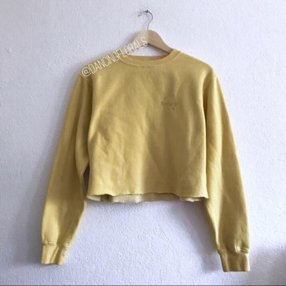 Brandy Melville Sweaters Honey Yellow Crop Sweater Poshmark